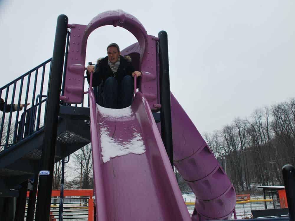 sarah on the slide