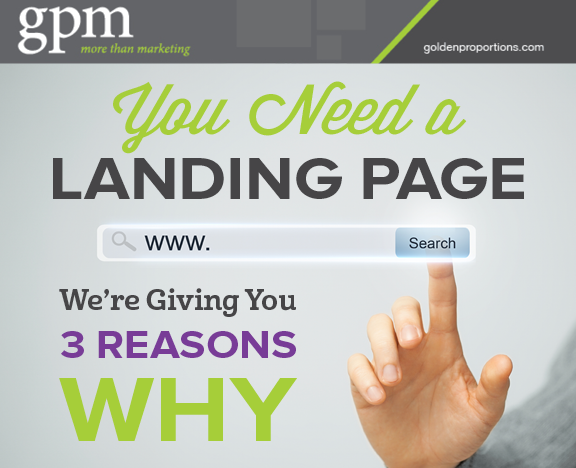 you need a landing page