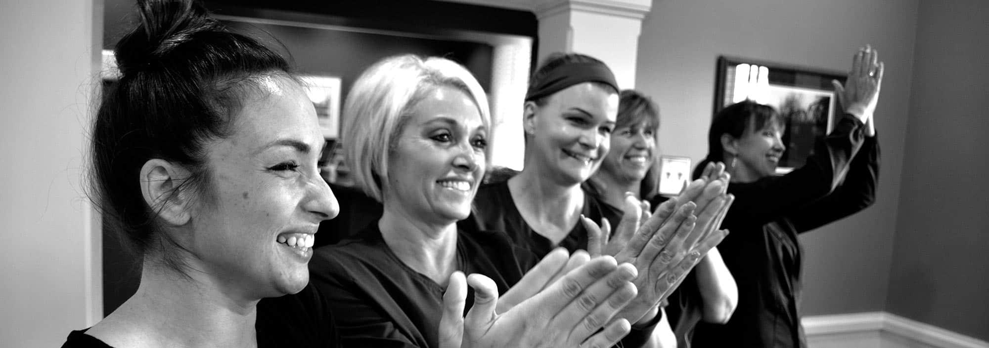 cheering dental team