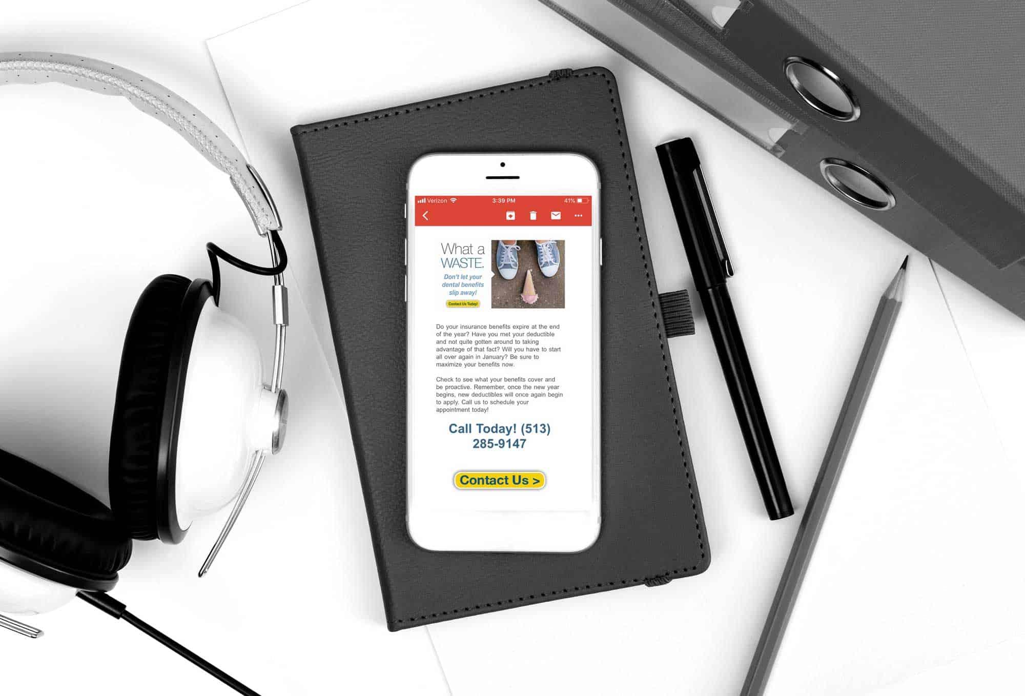 dental promotion on mobile phone
