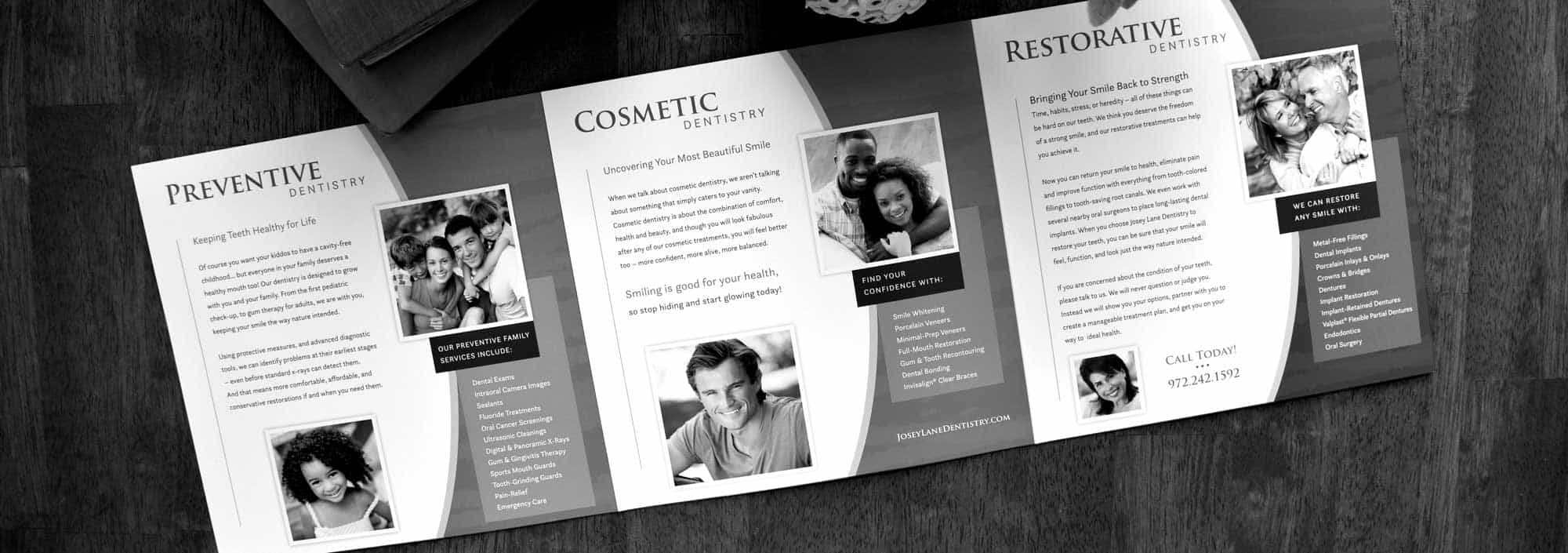 dental office brochure bw