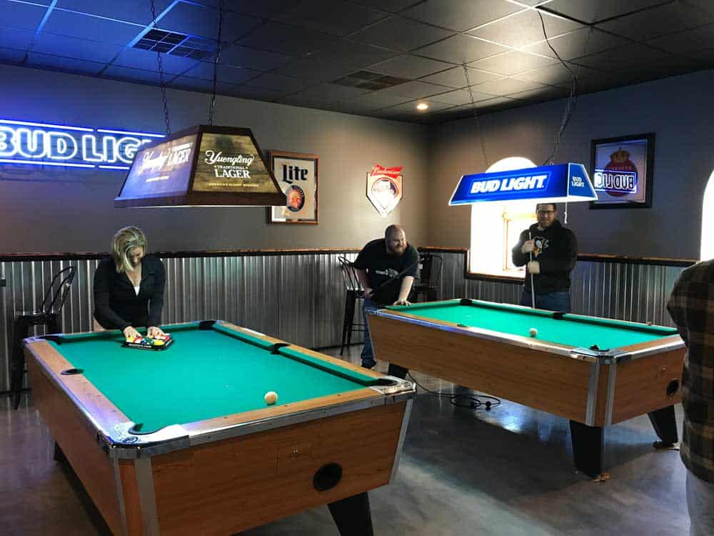 gpm team playing pool