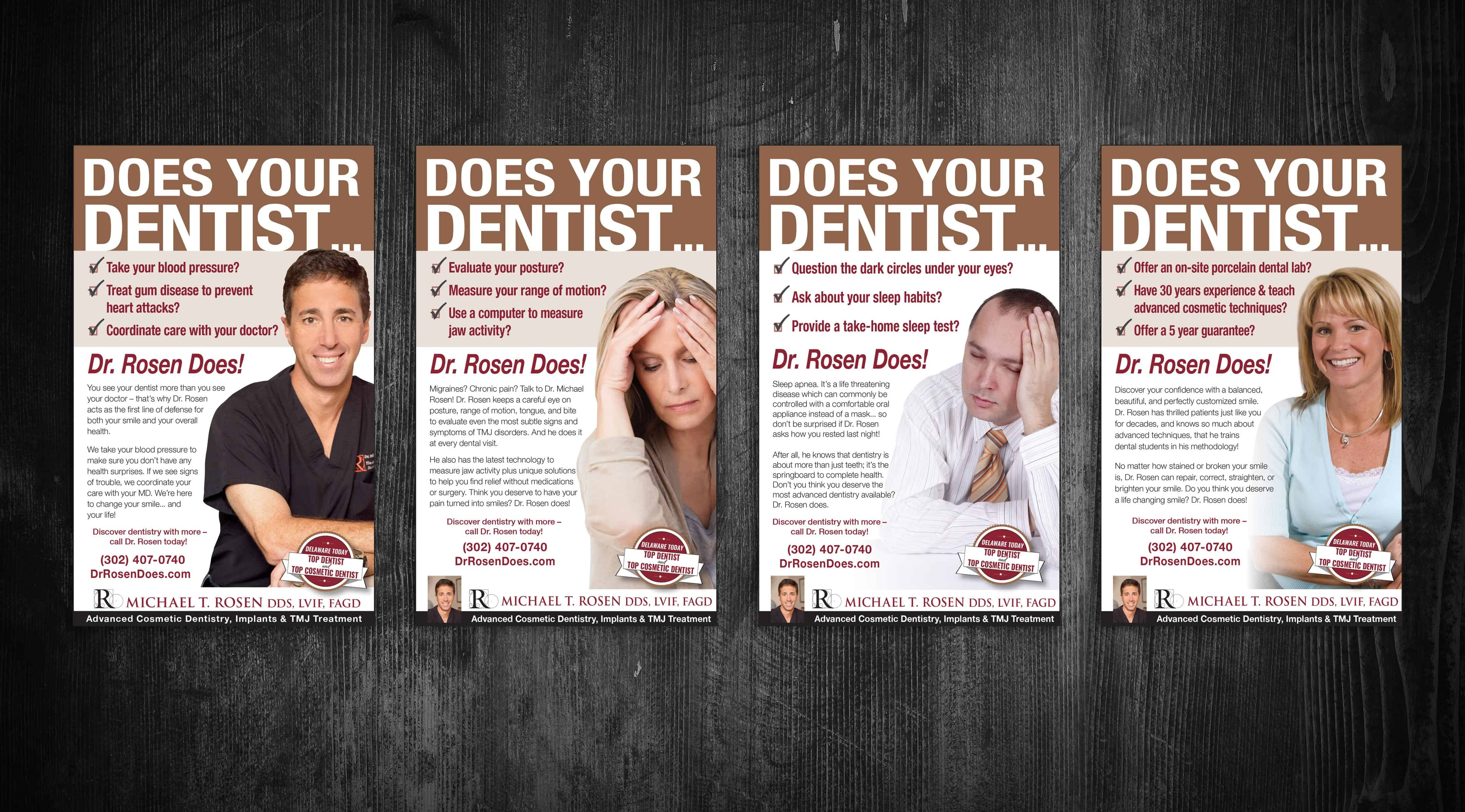 four ads about superior dental care