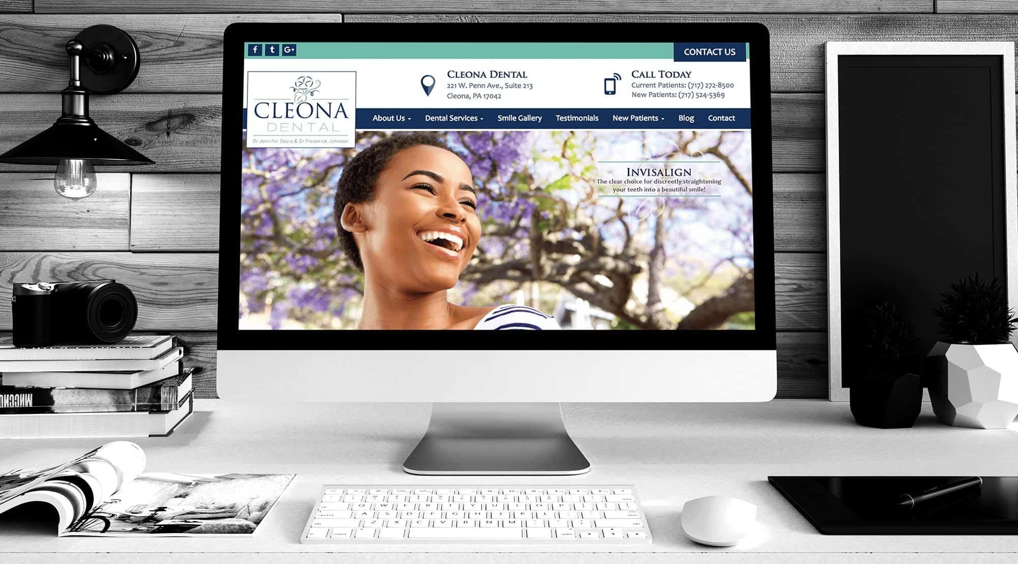 dental website example cleona dental