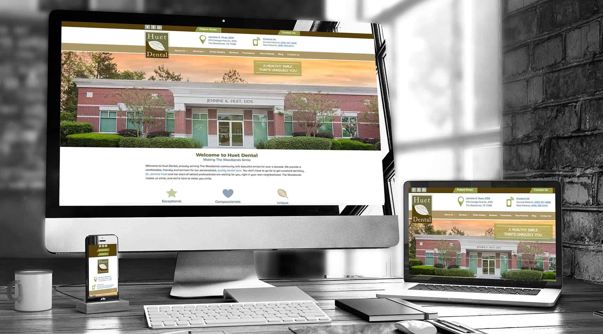 dental website example huet dental