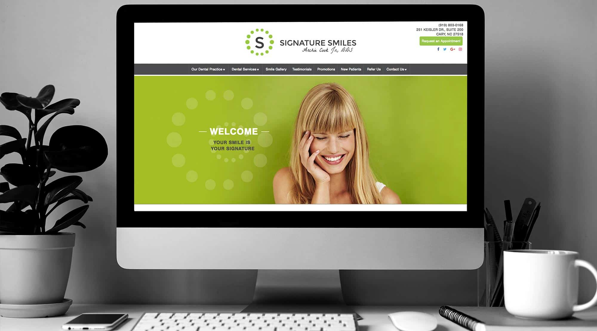 dental website example signature smiles
