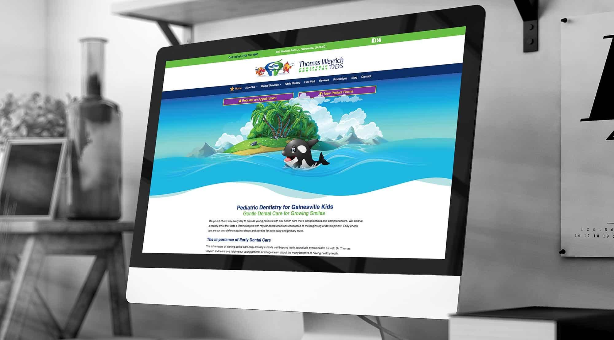 pediatric dental website example