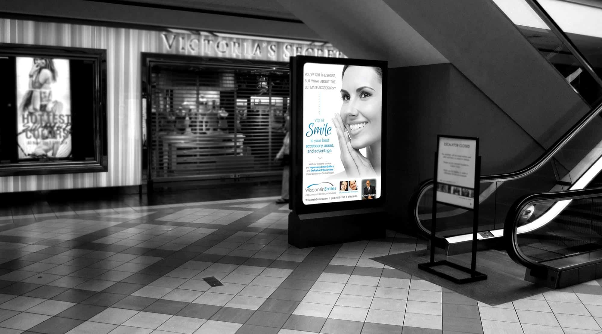 mall poster for dentist