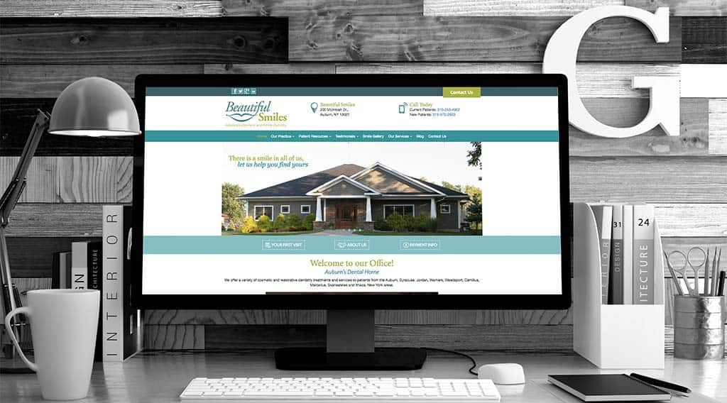 Beautiful Smiles dental website design