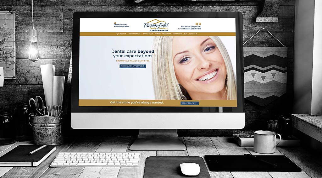 Broomfield Family Dentistry dental website design
