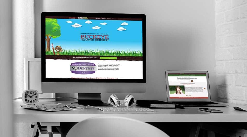 Buckeye pediatric dentistry dental website design