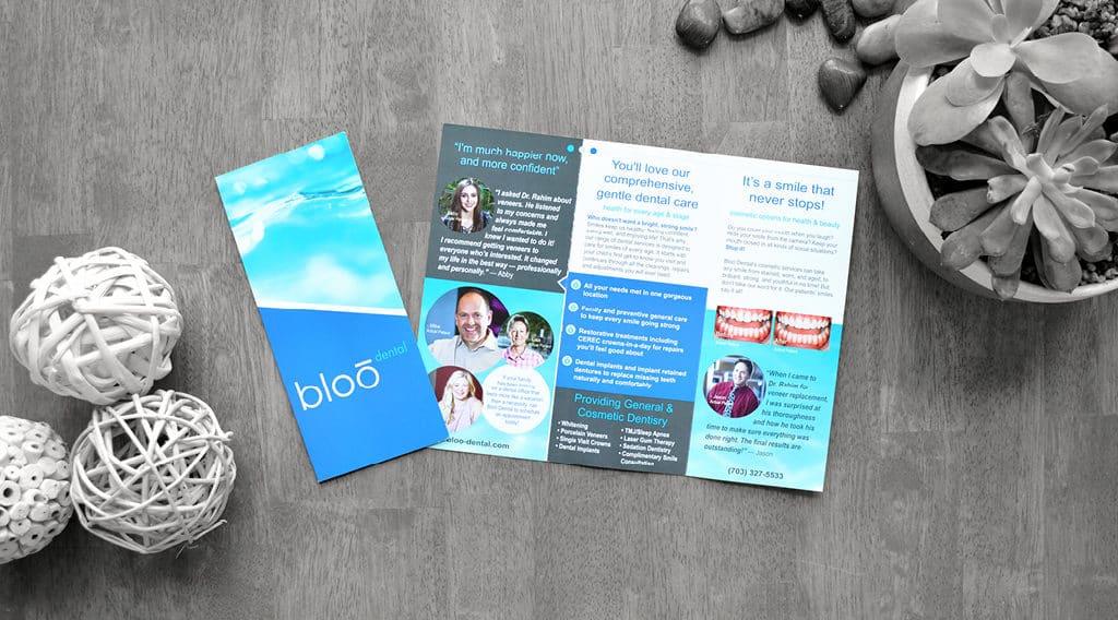 Bloo dental office brochure