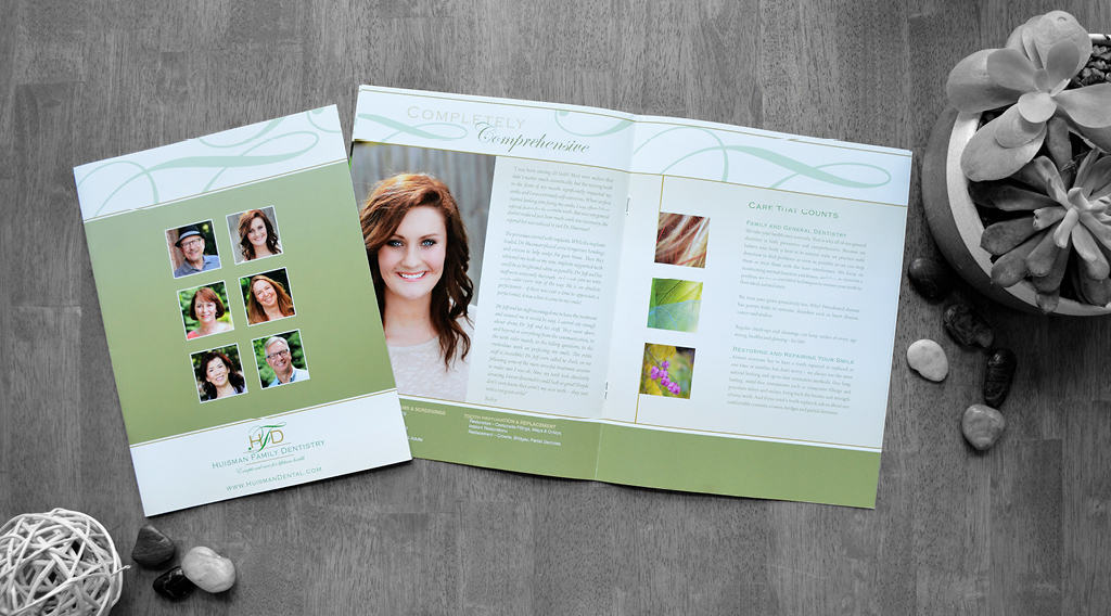 Huisman family dentistry brochure design