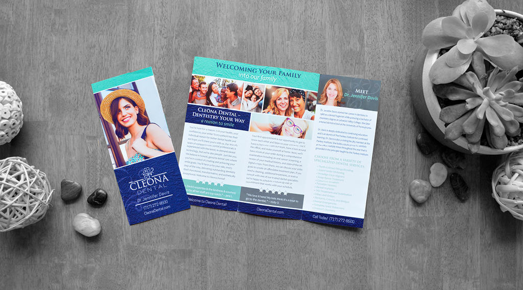 Cleona Dental brochure design