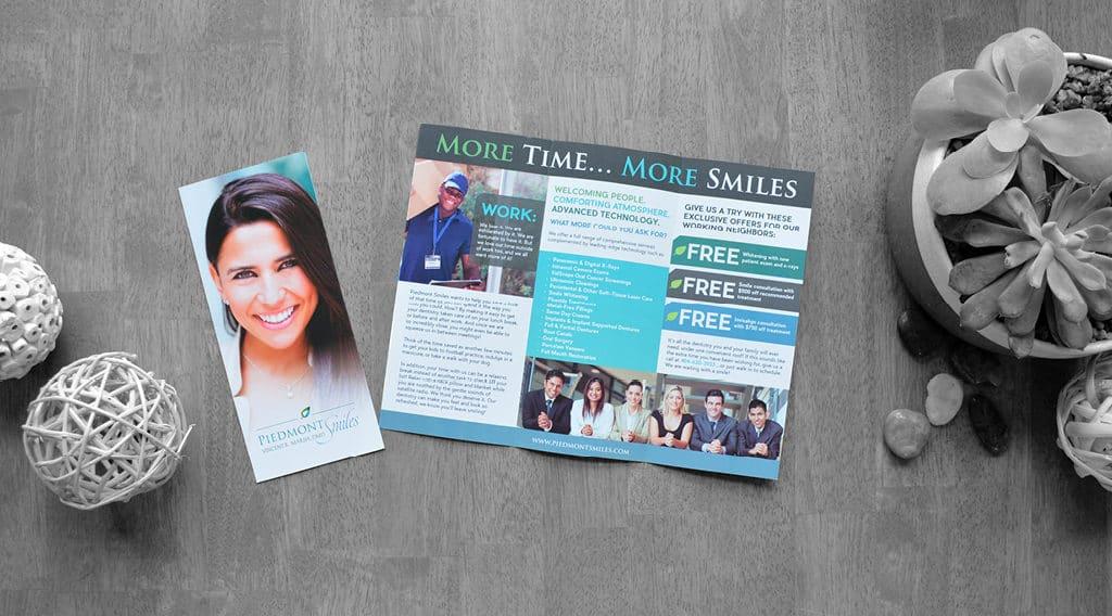 Piedmont Smiles dental brochure sample