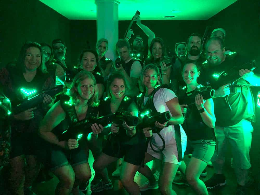 Entire GPM team laser tag 2018