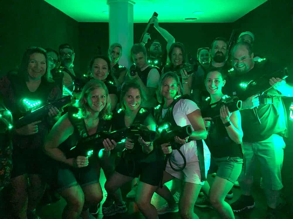 Entire GPM team laser tag 2018