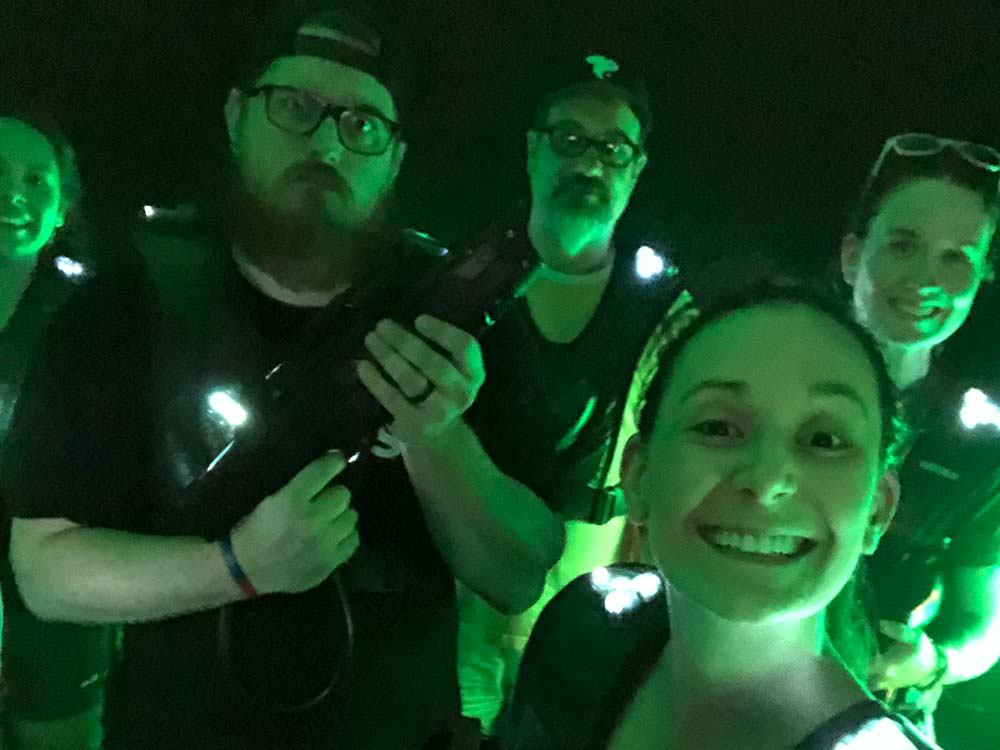 GPM team playing laser tag