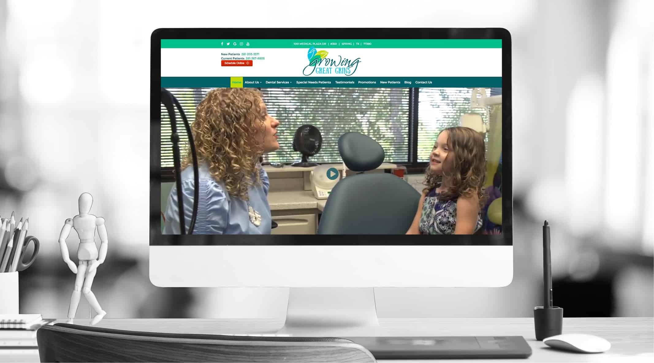 Growing Great Grins' Website