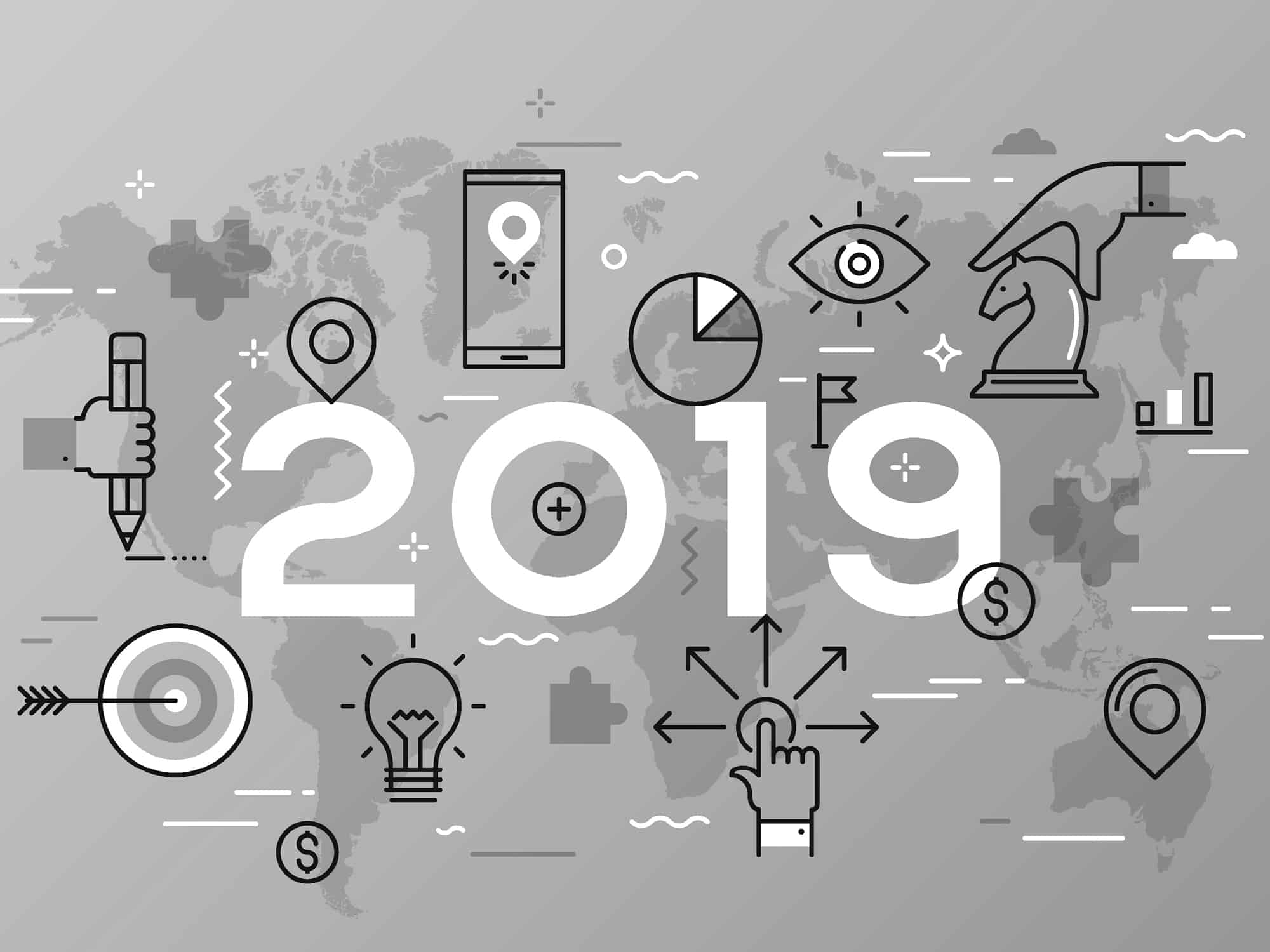 2019 dental marketing trends black and white version