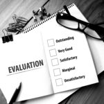 evaluation concept black and white