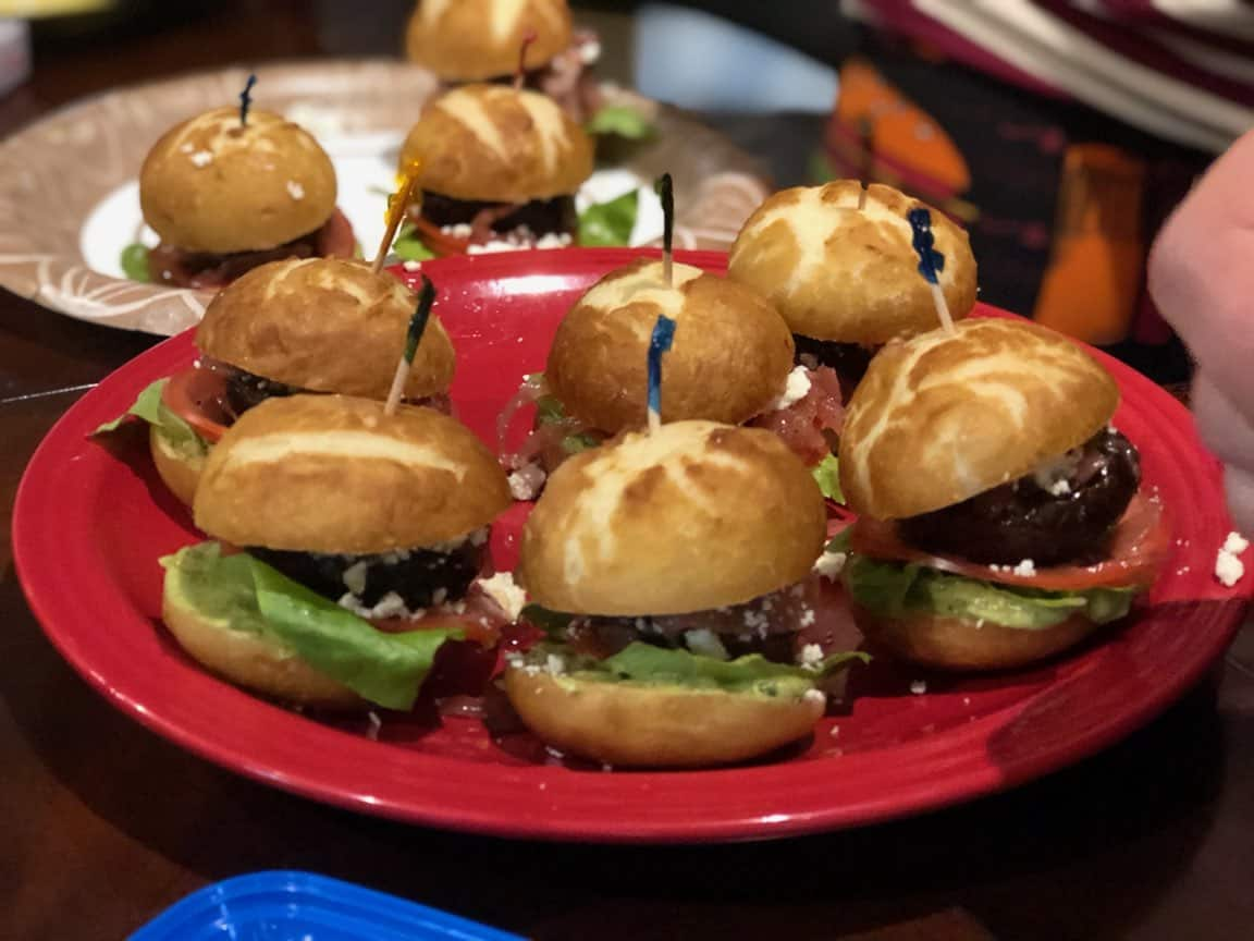 plate of sliders
