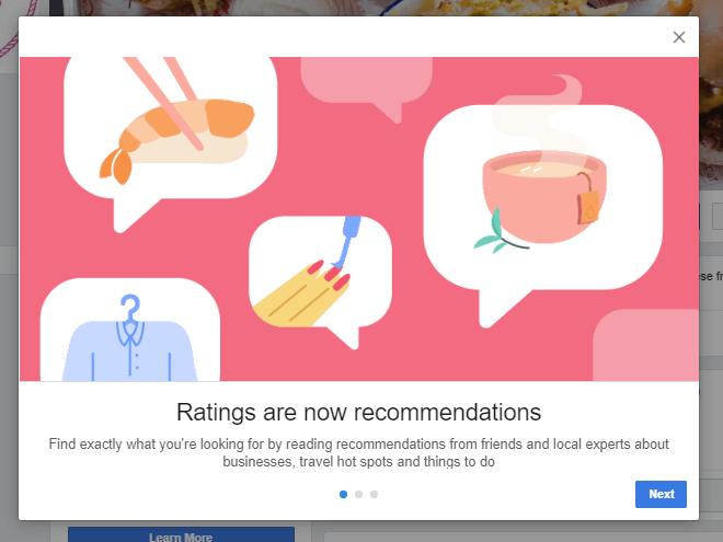 recommendation screenshot