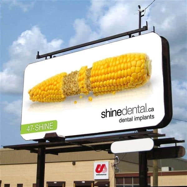 Shine Dental billboard
