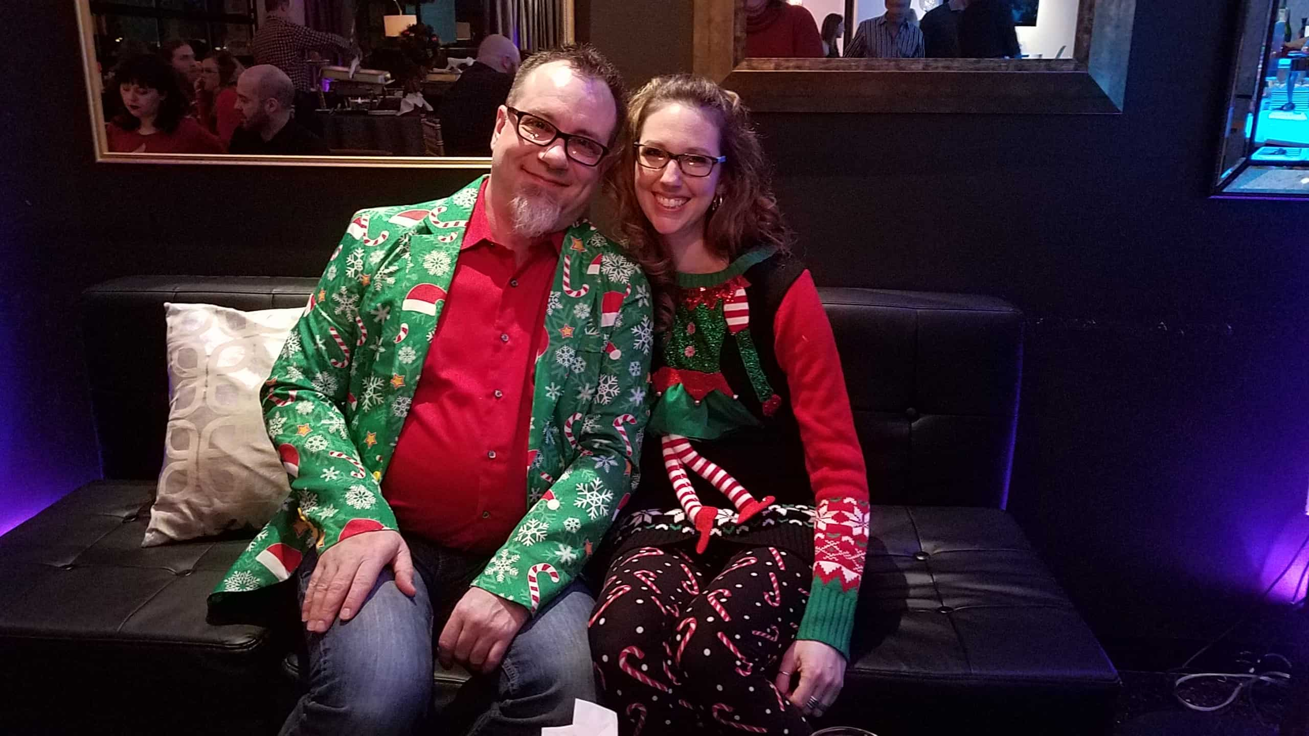 Brett Hoover at GPM Christmas Party 2018 - Golden Proportions Marketing