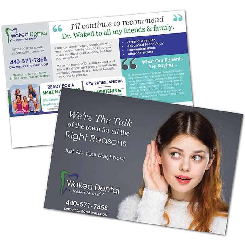 dental direct mail - Golden Proportions Marketing